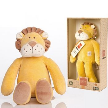 miYim Organic Leo Lion Storybook Plush Toy