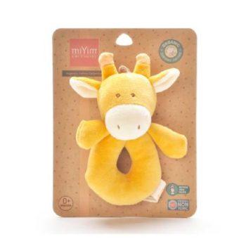 miYim Organic Plush Rattle – Sam Giraffe