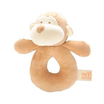 miYim Organic Plush Rattle – Fred Monkey