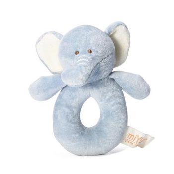 miYim Organic Plush Rattle – Eddie Elephant