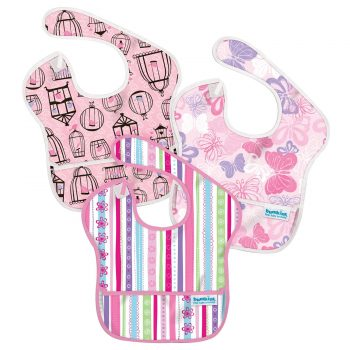 Waterproof 3 pack Girls Super Bibs
