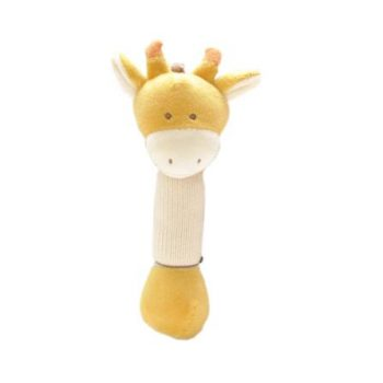 miYim Organic Plush Stick Rattle – Sam Giraffe