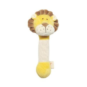 miYim Organic Plush Stick Rattle – Leo Lion