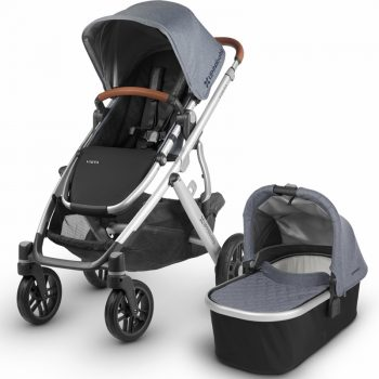 UPPAbaby VISTA – With Bassinet – Blue Melange (Gregory)
