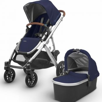 UPPAbaby VISTA 2018 – With Bassinet – Navy/Silver (Taylor)