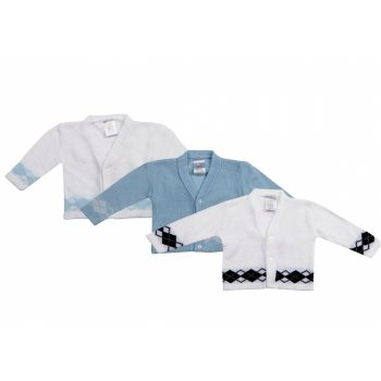 Baby Boys Diamond Knit Cardigan