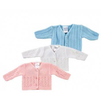 Premmie Baby Cardigan – 1.3-2.2 kg & 2.2-3.6 kg