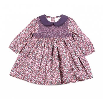 Purple Dress With Smocking