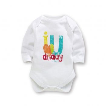 Bodysuit Long Sleeve – I Love U Daddy (lots!)