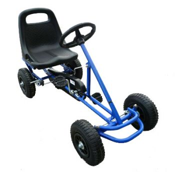 Ride On Kids Toy Pedal Bike Go Kart Car – Blue
