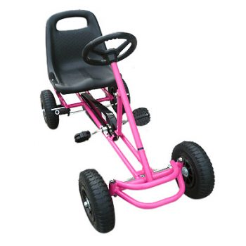 Ride On Kids Toy Pedal Bike Go Kart Car – Pink