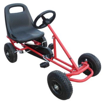 Ride On Kids Toy Pedal Bike Go Kart Car – Red