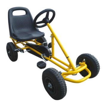 Ride On Kids Toy Pedal Bike Go Kart Car – Yellow