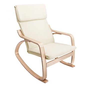 Artiss Fabric Rocking Armchair – Beige