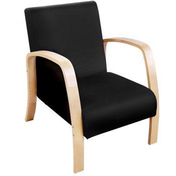 Artiss Wooden Armchair with Cushion – Black