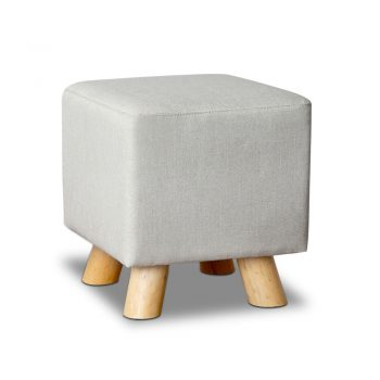 Artiss Fabric Square Foot Stool – Beige