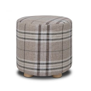 Artiss Fabric Round Ottoman – Lattice