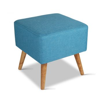 Artiss Fabric Square Foot Stool – Blue