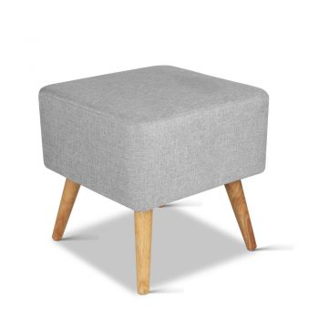 Artiss Fabric Square Foot Stool – Grey