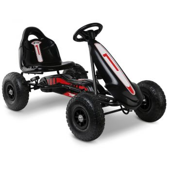Rigo Kids Pedal Powered Go Kart – Black
