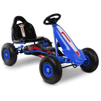 Rigo Kids Pedal Powered Go Kart – Blue