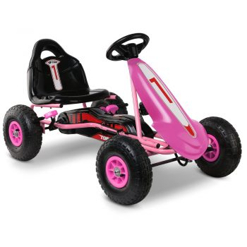 Rigo Kids Pedal Powered Go Kart – Pink
