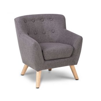 Artiss Kids Fabric Accent Armchair – Grey