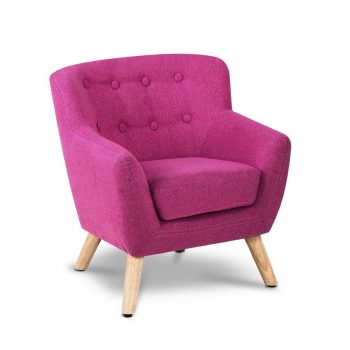 Artiss Kids Fabric Accent Armchair – Pink