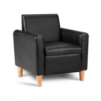 Artiss Kids PU Leather Armchair – Black
