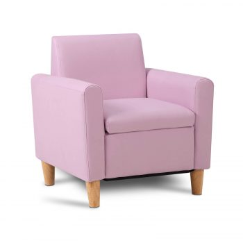 Artiss Kids PU Leather Armchair – Pink