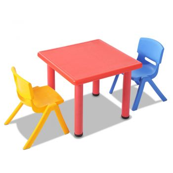 Keezi 3 Piece Kids Table and Chair Set – Red