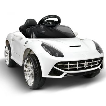 Ferrari F12 Kids Ride On Car  – White
