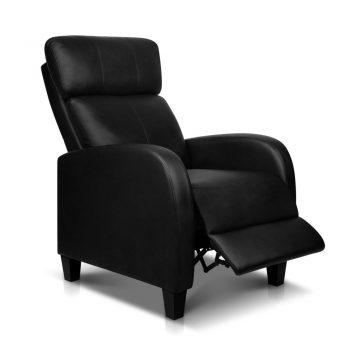 Artiss PU Leather Reclining Armchair – Black