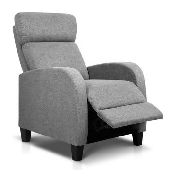 Artiss Fabric Reclining Armchair – Grey