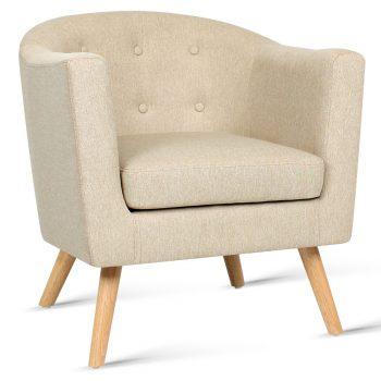 Artiss Fabric Armchair – Beige