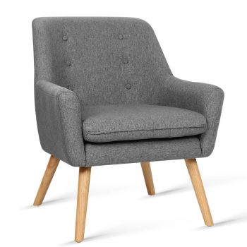 Artiss Fabric Armchair – Grey
