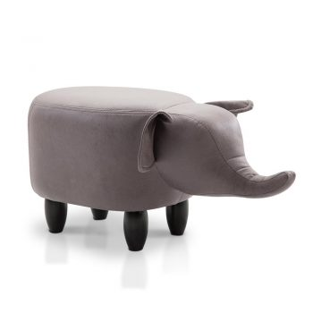 Artiss Kids Elephant Animal Stool – Grey