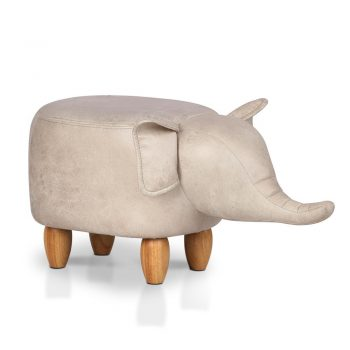 Artiss Kids Elephant Animal Stool – Beige