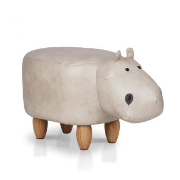 Artiss Kids Hippo Animal Stool – Beige