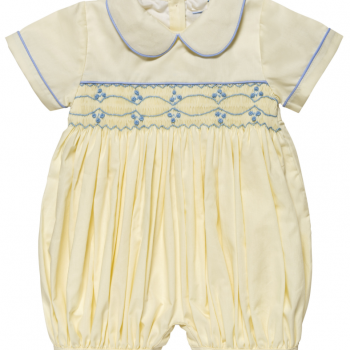 Peter Pan Collar Romper – Cream