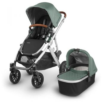UPPAbaby VISTA – With Bassinet – Green Melange Saddle Leather (Emmett)