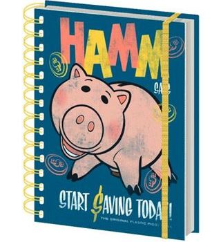 Notebook – Toy Story – Hamm Retro