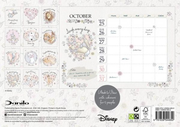 Disney Heritage A4 Official 2021 Family Organiser
