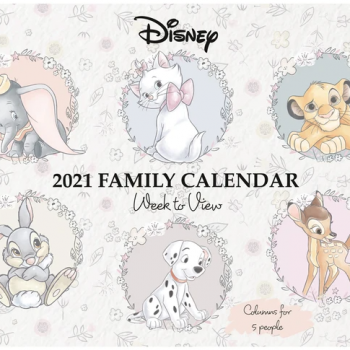 2021 Calendar Family Organiser – Official A4 Disney Heritage