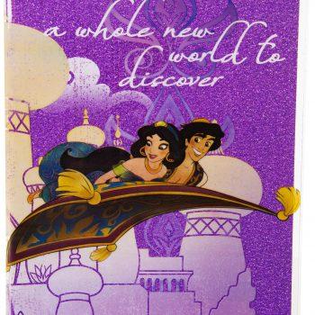 Notebook – Disney Aladdin Glitter Notebook